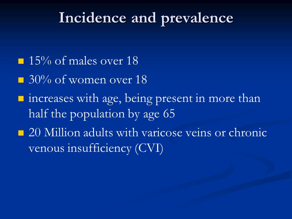 Incidence and prevalence