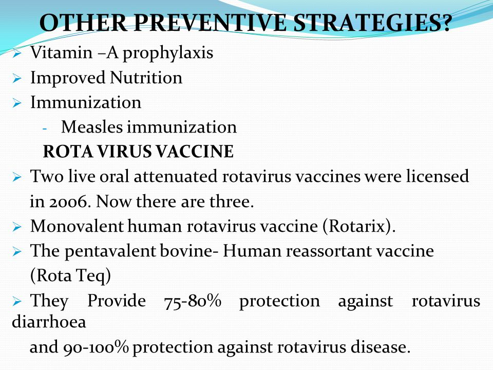 OTHER PREVENTIVE STRATEGIES