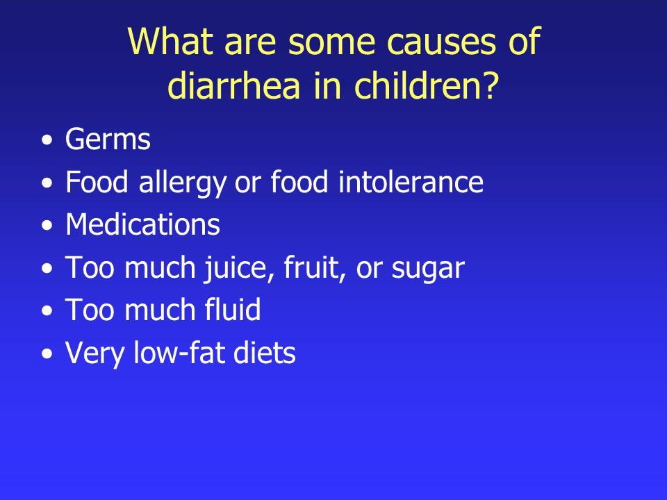What are some causes of diarrhea in children