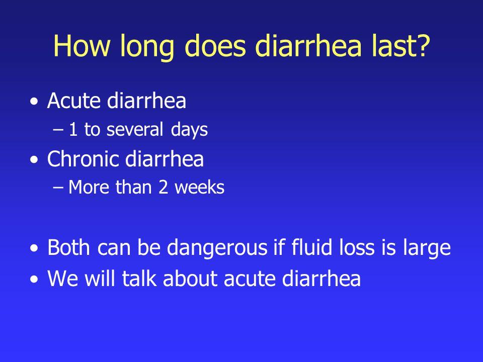 How long does diarrhea last