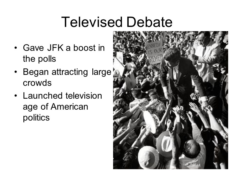 Televised Debate Gave JFK a boost in the polls