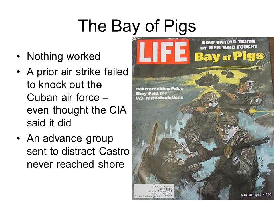 The Bay of Pigs Nothing worked