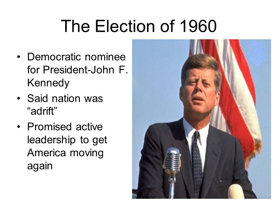 The Election of 1960 Democratic nominee for President-John F. Kennedy