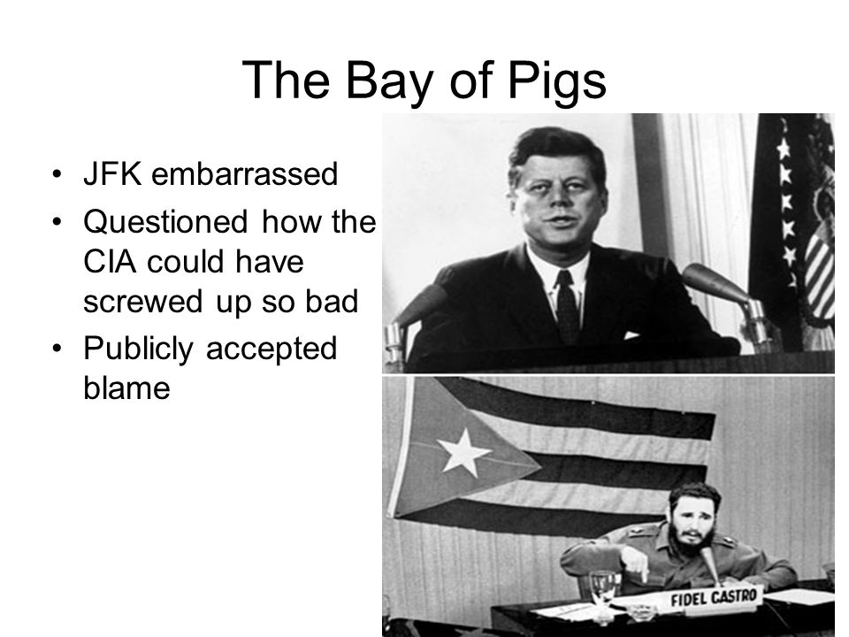 The Bay of Pigs JFK embarrassed