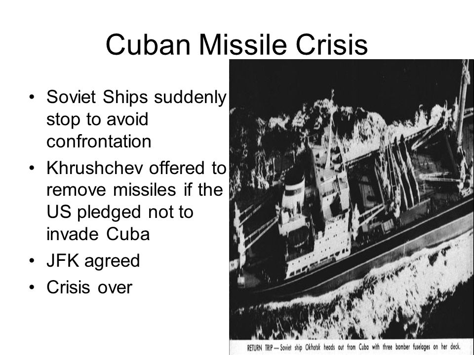 Cuban Missile Crisis Soviet Ships suddenly stop to avoid confrontation
