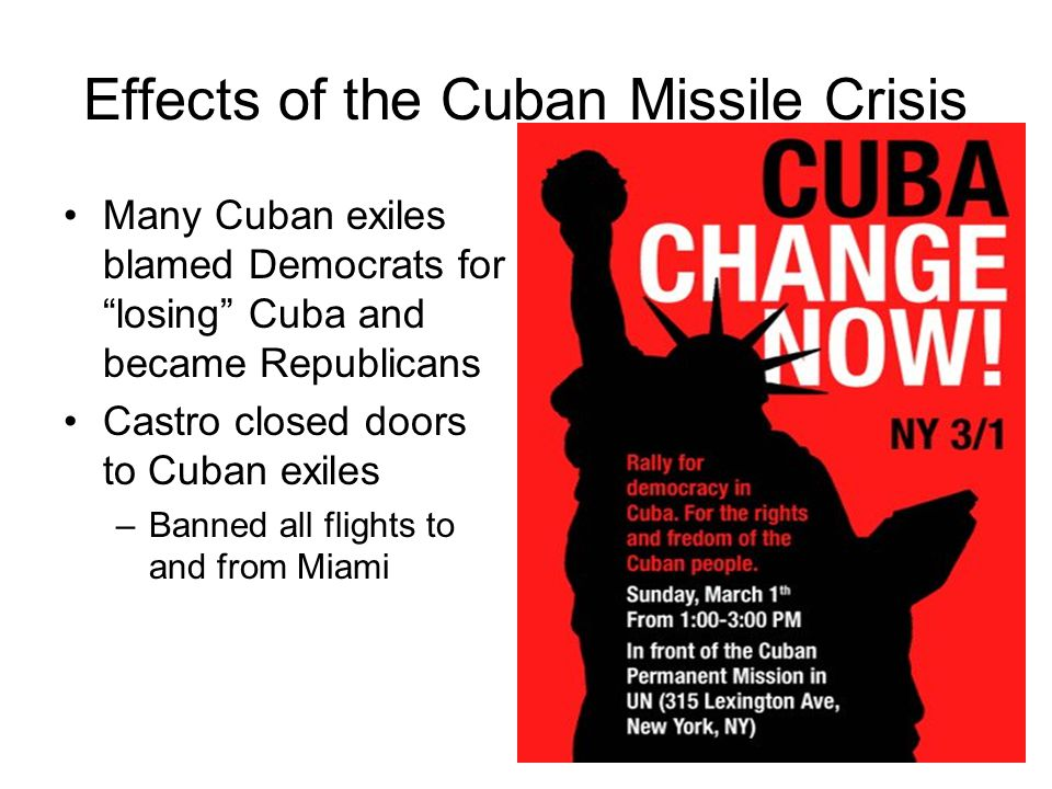 Effects of the Cuban Missile Crisis