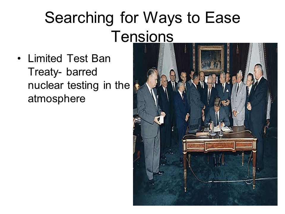 Searching for Ways to Ease Tensions