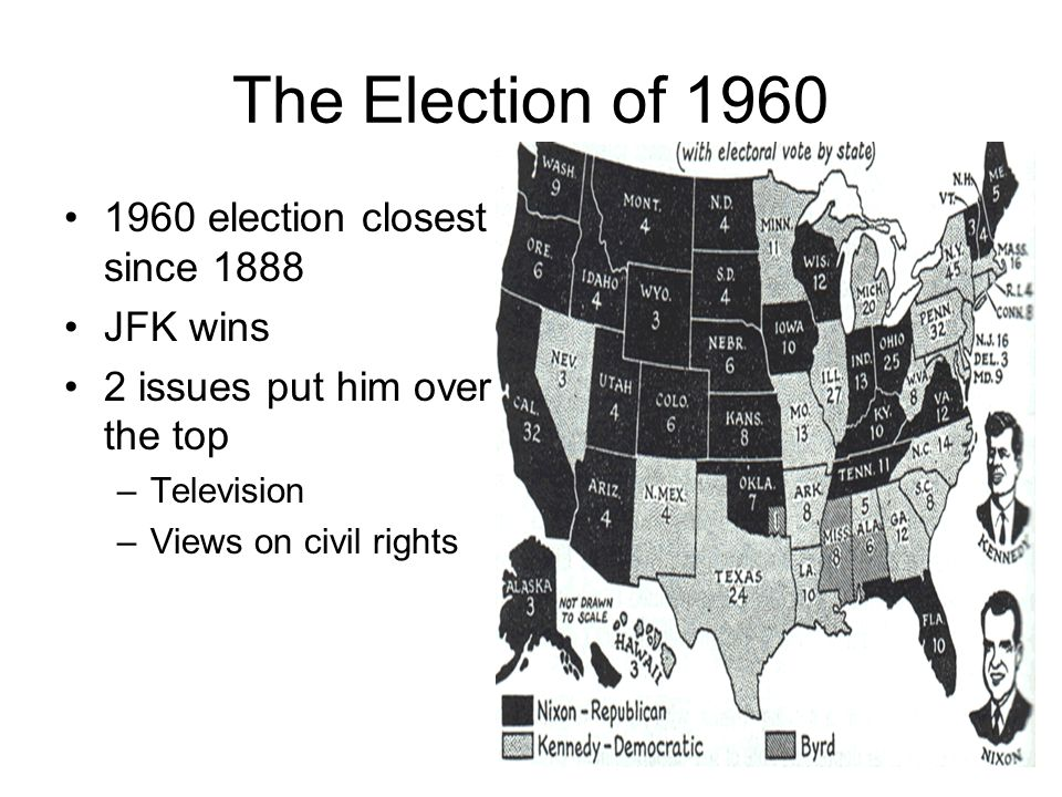 The Election of 1960 1960 election closest since 1888 JFK wins