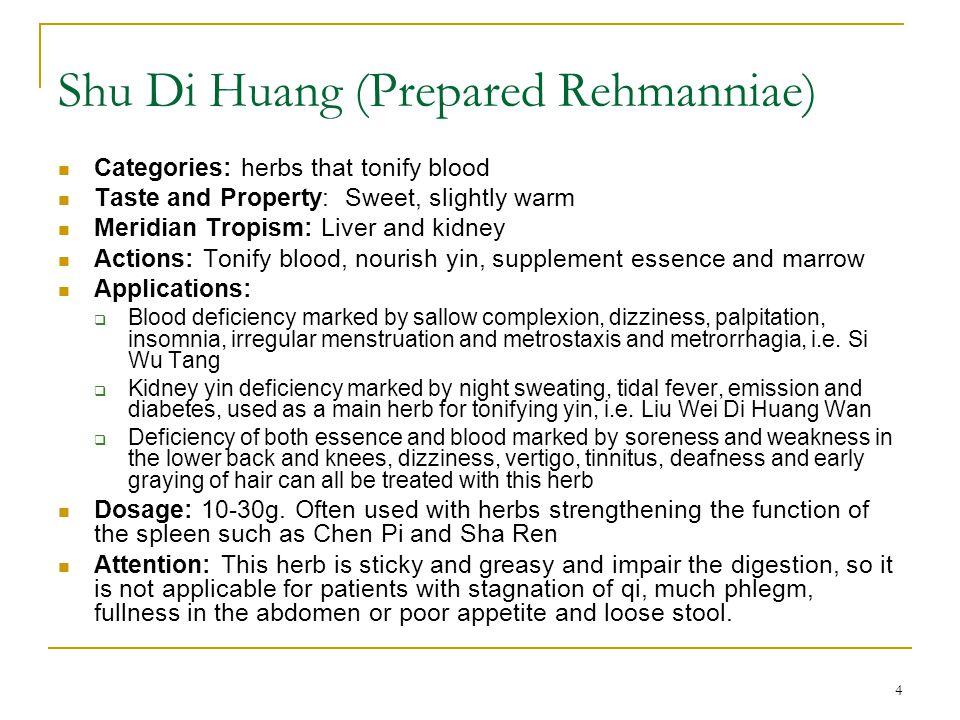 Shu Di Huang (Prepared Rehmanniae)