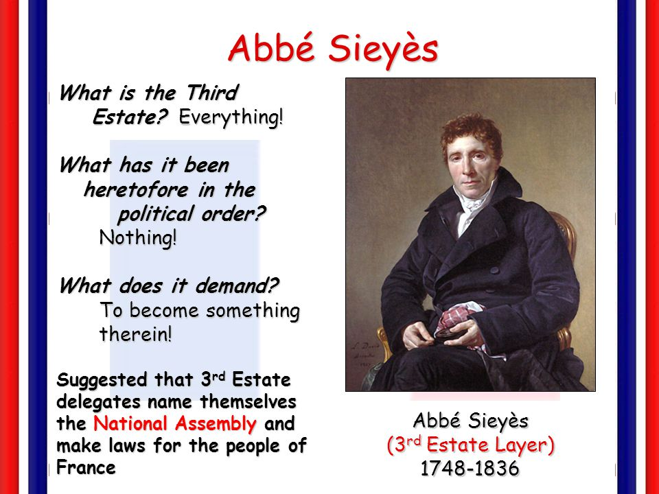 Abbé Sieyès What is the Third Estate Everything!