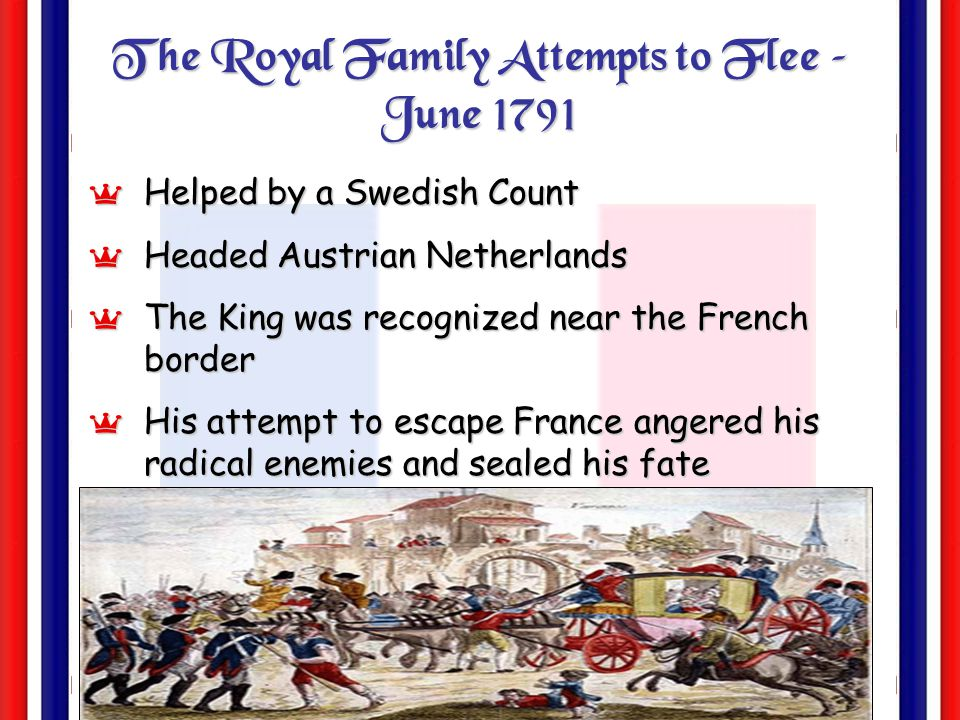 The Royal Family Attempts to Flee – June 1791