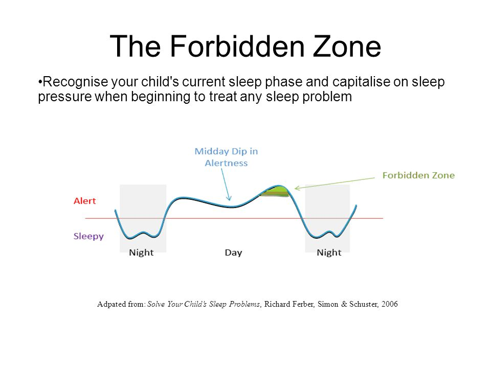 The Forbidden Zone Recognise your child s current sleep phase and capitalise on sleep pressure when beginning to treat any sleep problem.