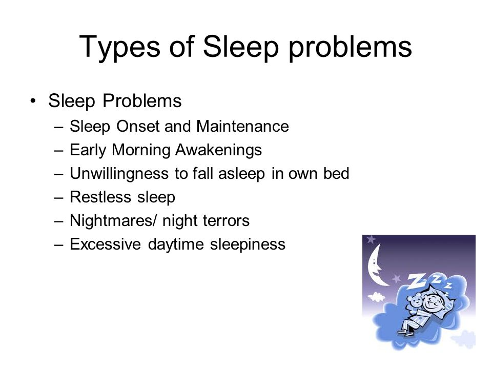 Types of Sleep problems