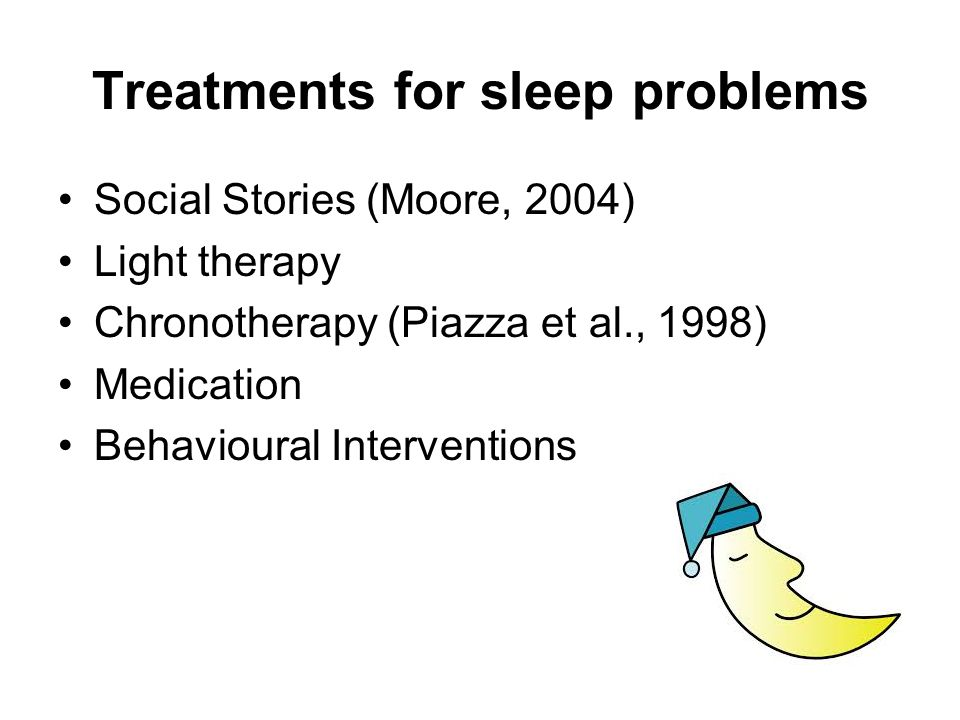 Treatments for sleep problems