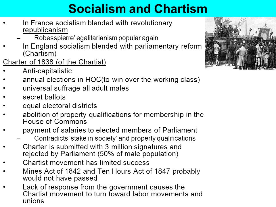 Socialism and Chartism