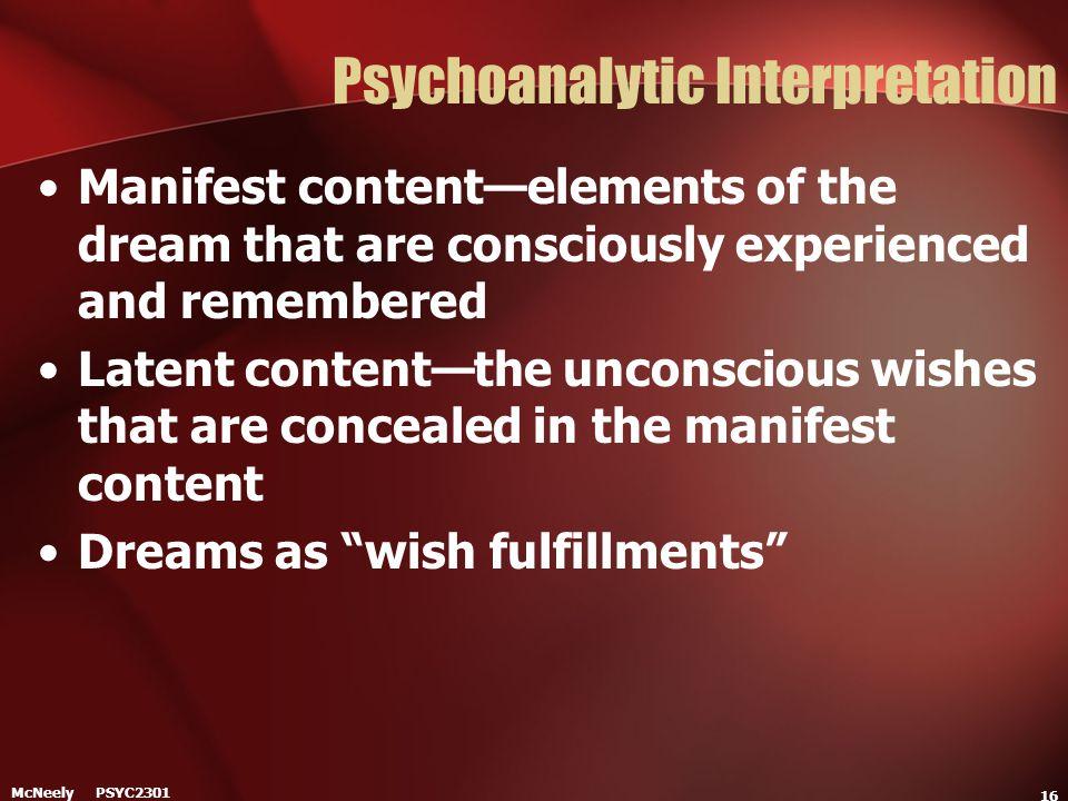 Psychoanalytic Interpretation