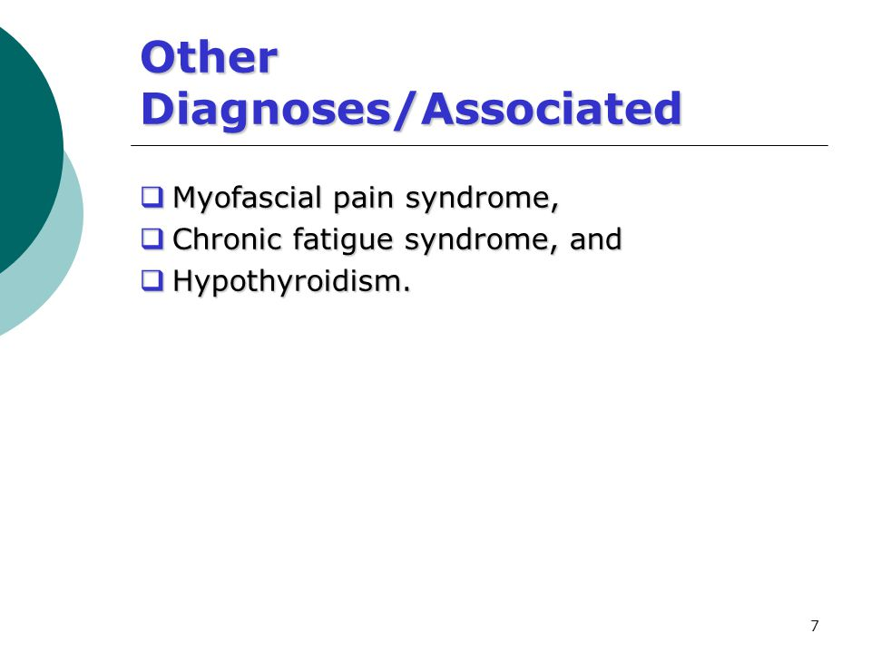 Other Diagnoses/Associated