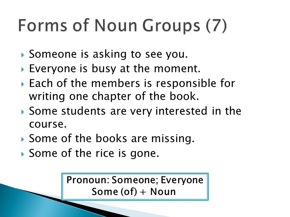 Pronoun: Someone; Everyone
