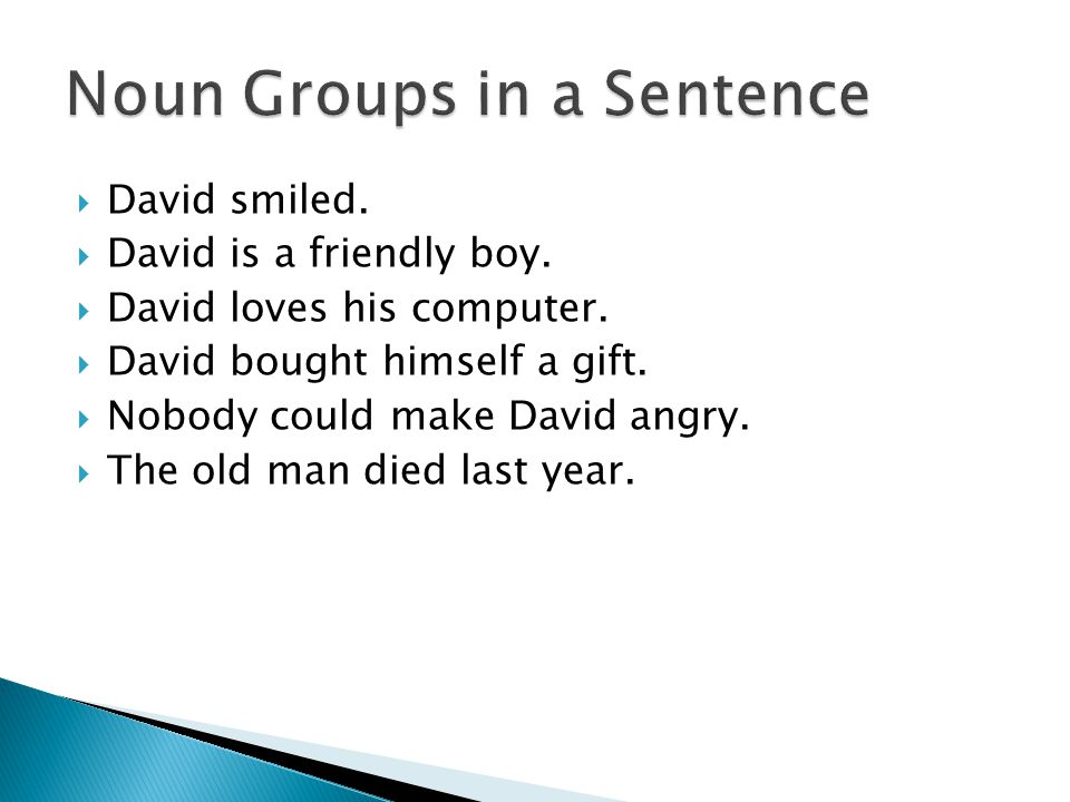 Noun Groups in a Sentence