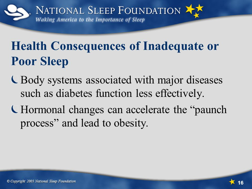 Health Consequences of Inadequate or Poor Sleep