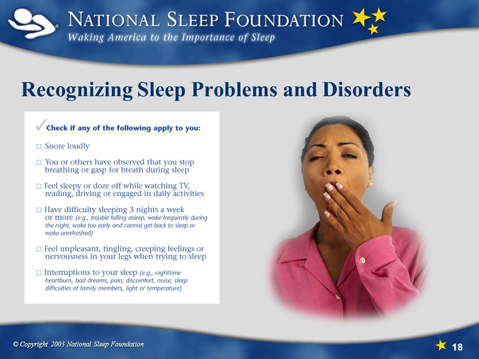 Recognizing Sleep Problems and Disorders