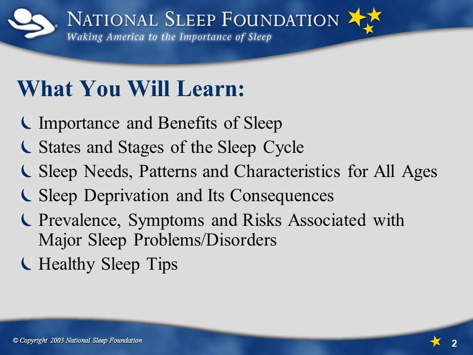 What You Will Learn: Importance and Benefits of Sleep