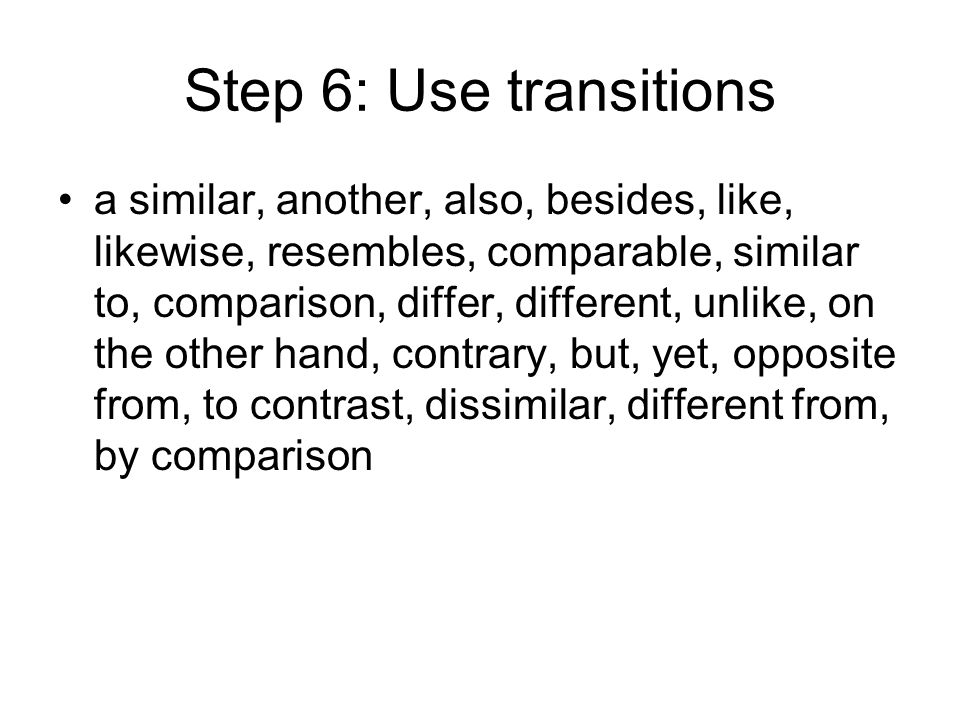 Step 6: Use transitions