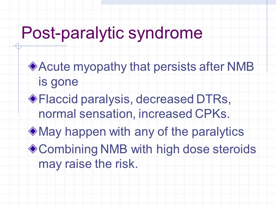 Post-paralytic syndrome