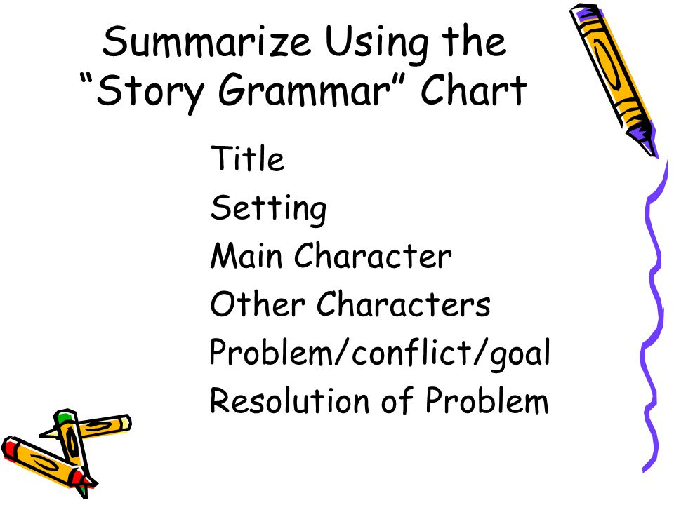 Summarize Using the Story Grammar Chart