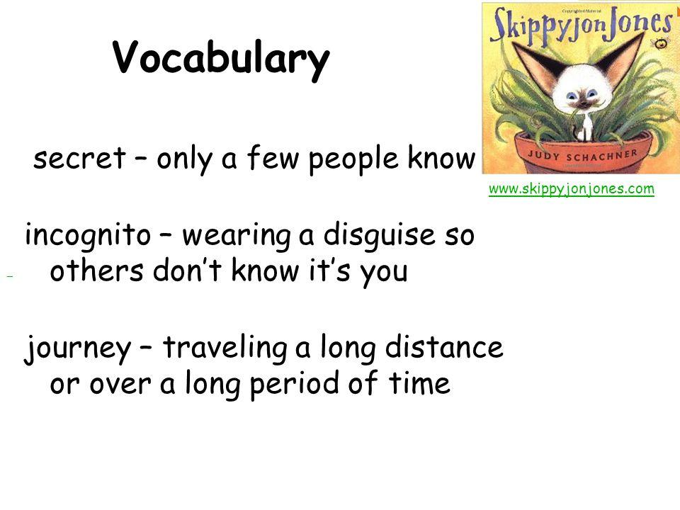 Vocabulary secret – only a few people know