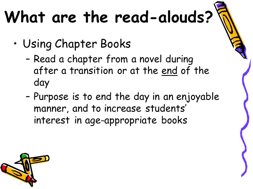 What are the read-alouds