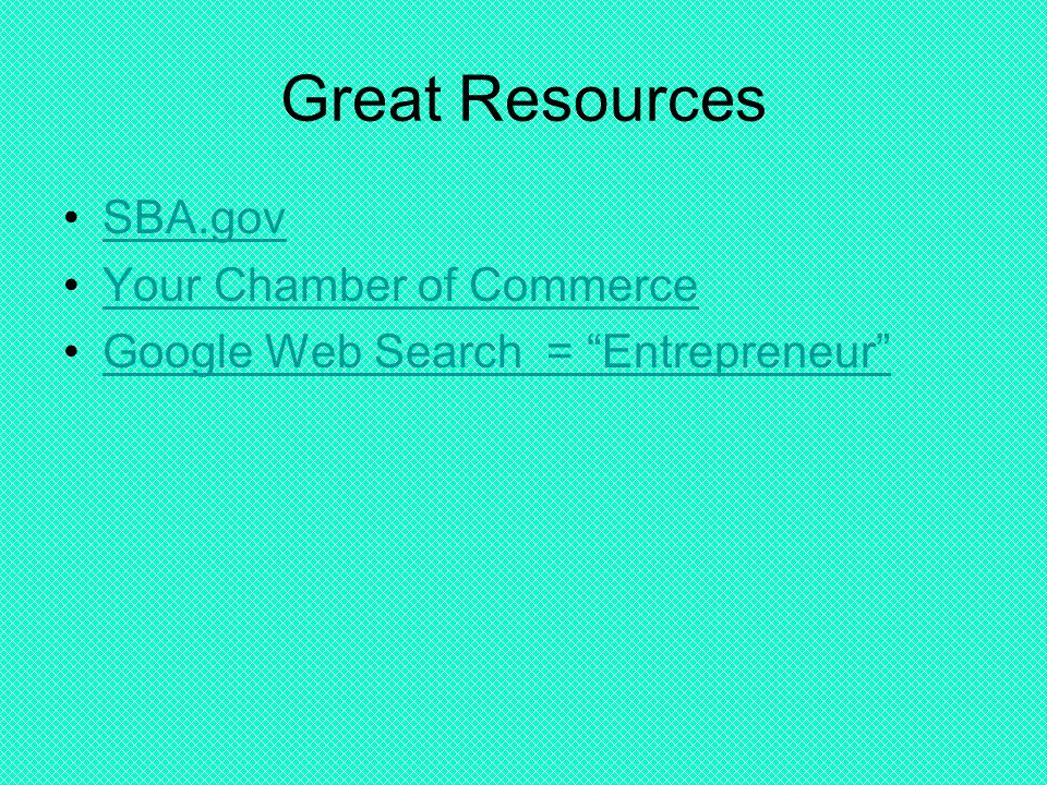 Great Resources SBA.gov Your Chamber of Commerce