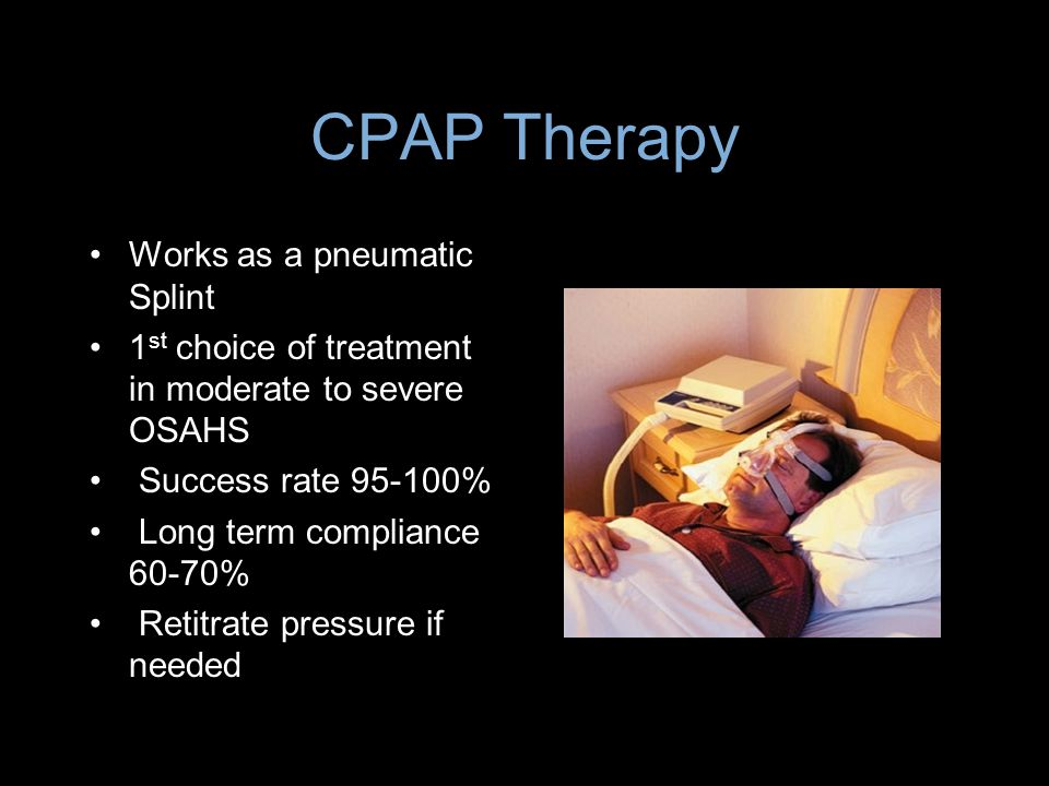CPAP Therapy Works as a pneumatic Splint