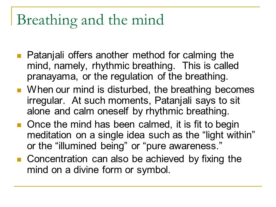 Breathing and the mind