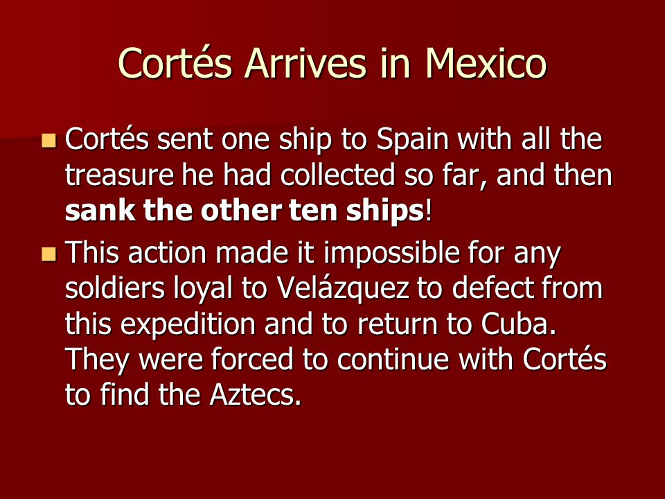 Cortés Arrives in Mexico