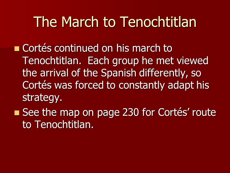 The March to Tenochtitlan