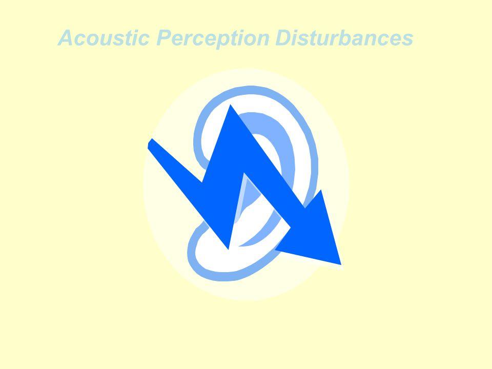 Acoustic Perception Disturbances
