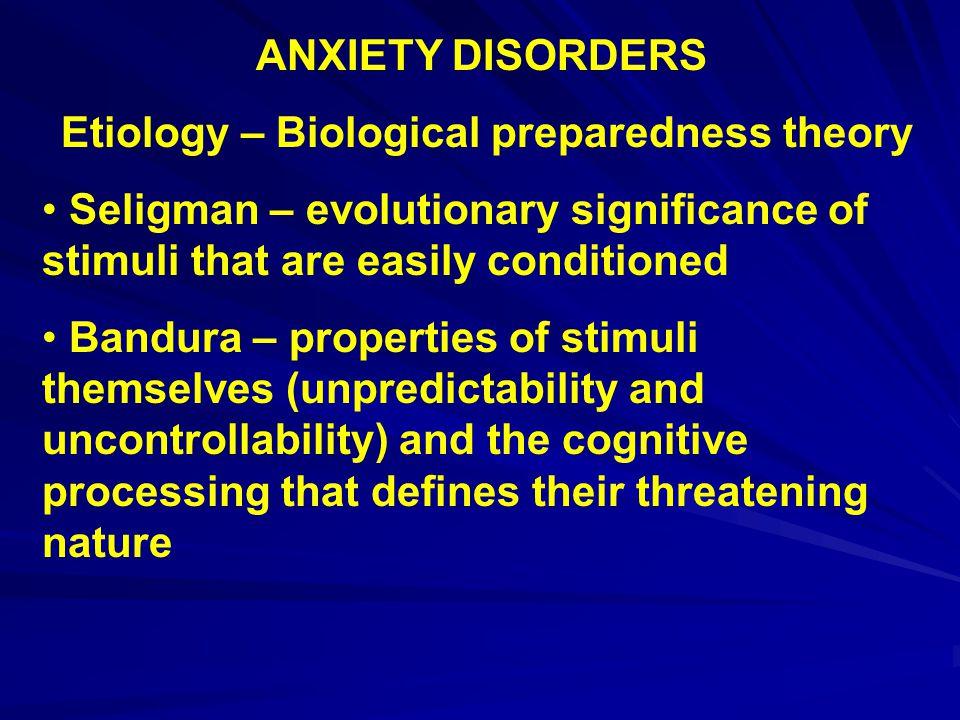 Etiology – Biological preparedness theory