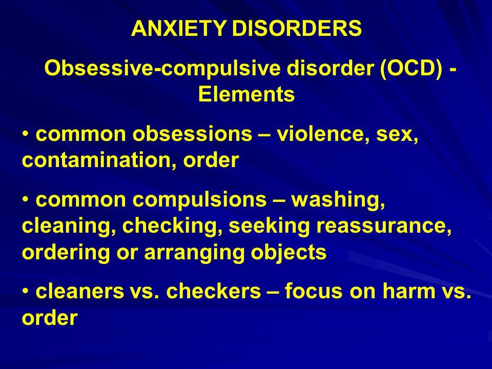 Obsessive-compulsive disorder (OCD) - Elements