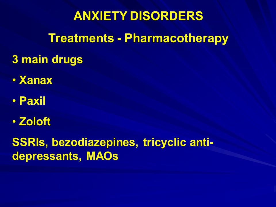 Treatments - Pharmacotherapy