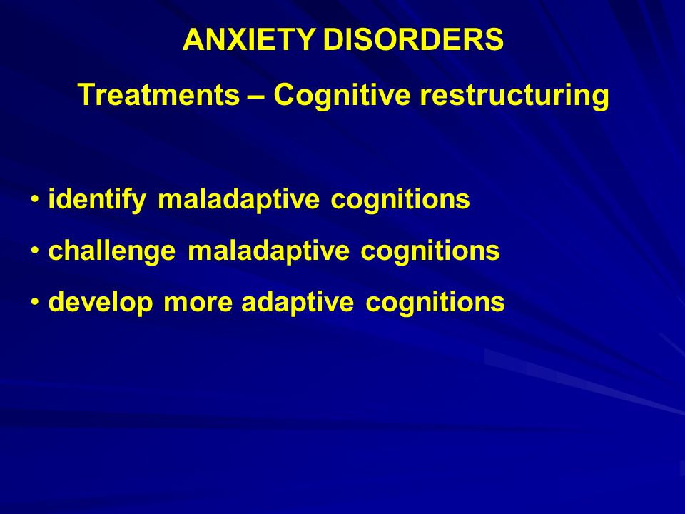 Treatments – Cognitive restructuring