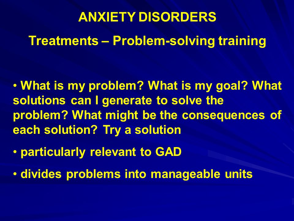 Treatments – Problem-solving training