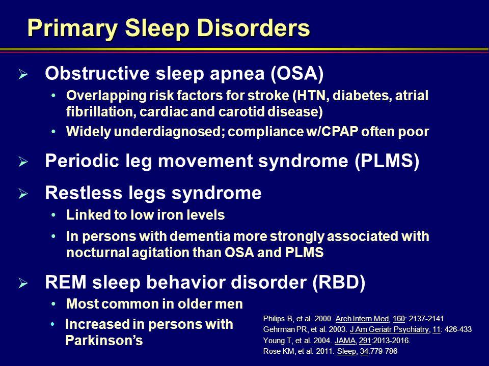 Primary Sleep Disorders