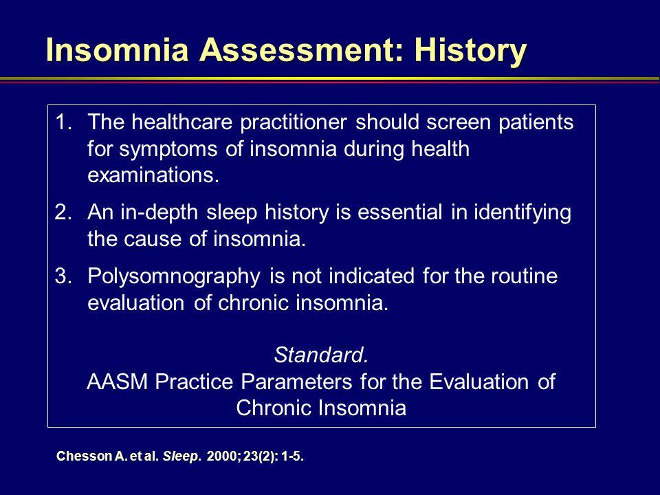 Insomnia Assessment: History