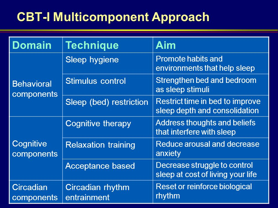 CBT-I Multicomponent Approach