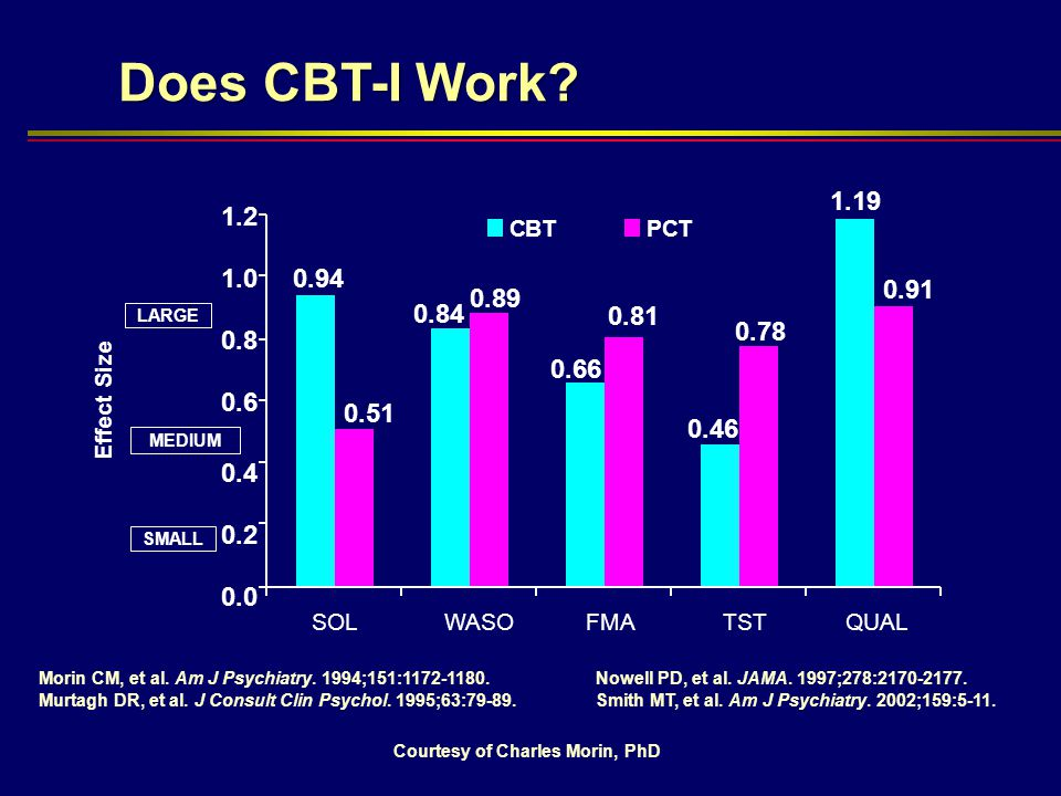 Does CBT-I Work 1.19. 1.2. C. B. T. P. C. T. 1.0. 0.94. 0.91. 0.89. 0.84. 0.81. LARGE.