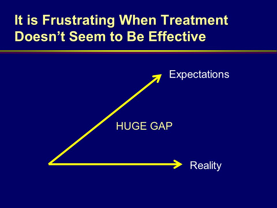 It is Frustrating When Treatment Doesn't Seem to Be Effective