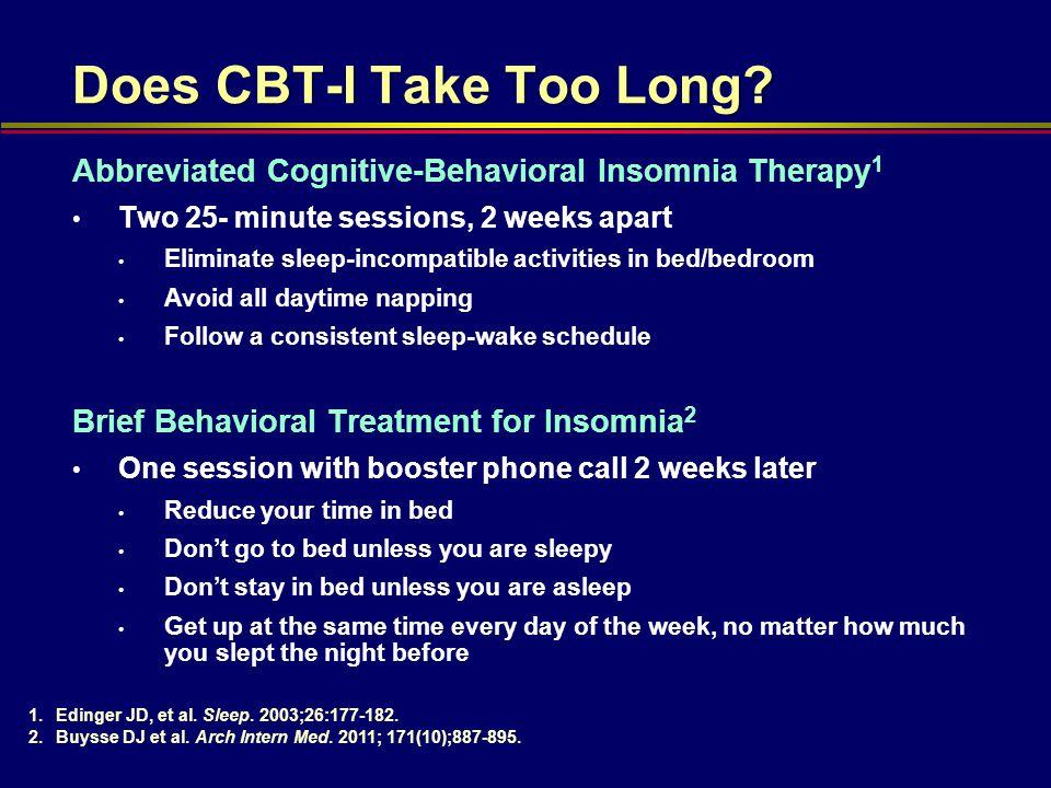 Does CBT-I Take Too Long