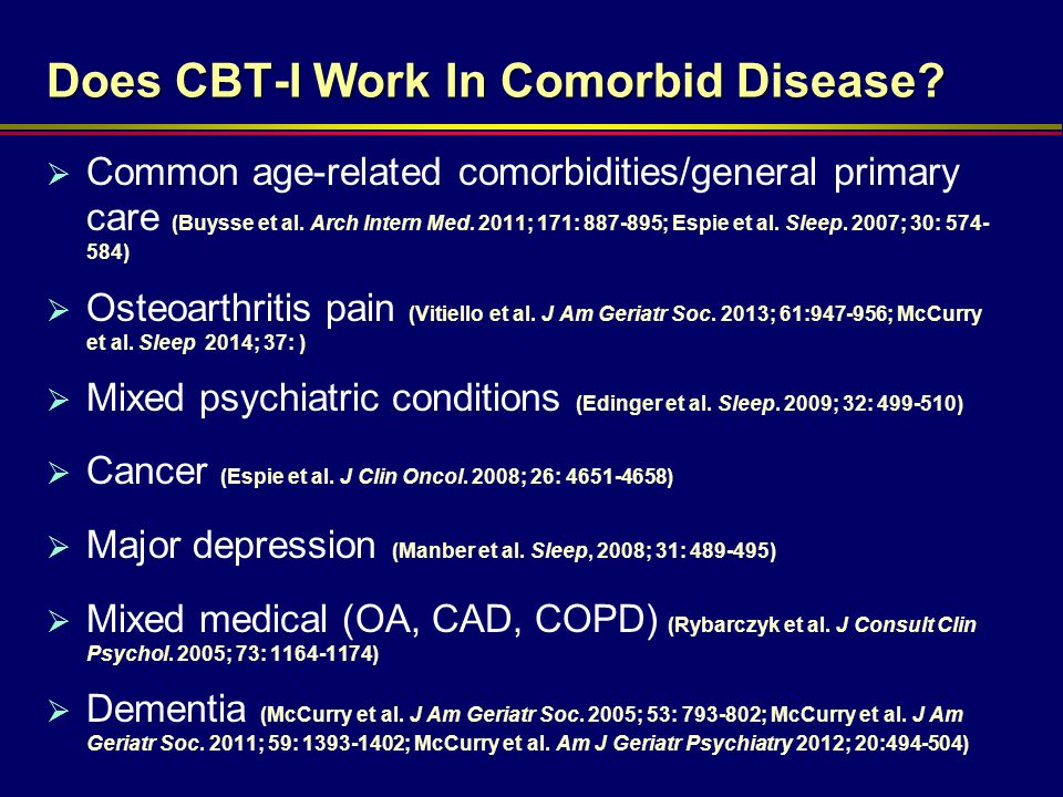 Does CBT-I Work In Comorbid Disease