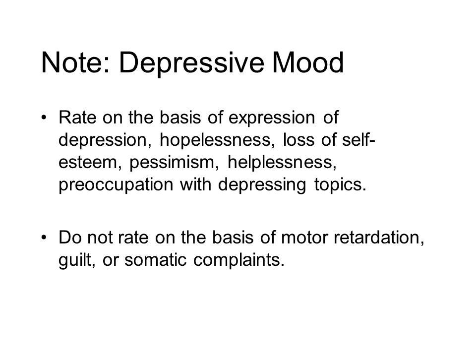 Note: Depressive Mood